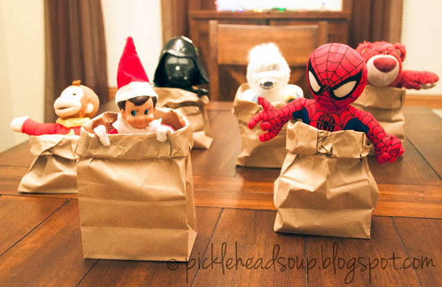 Sack race | 25+ elf on the shelf ideas