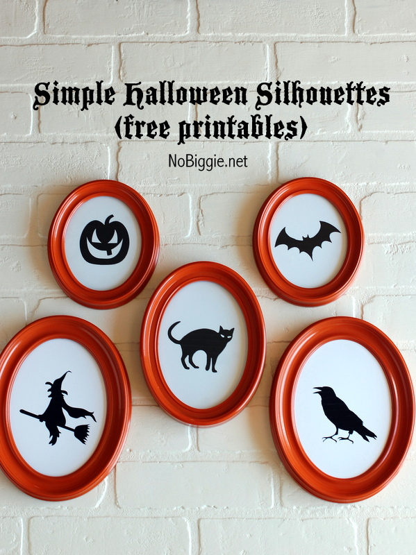 Simple halloween Silhouettes (free printables) | 25+ Halloween party decor ideas