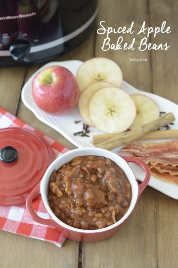 Crock Pot Spiced Apple Baked Beans