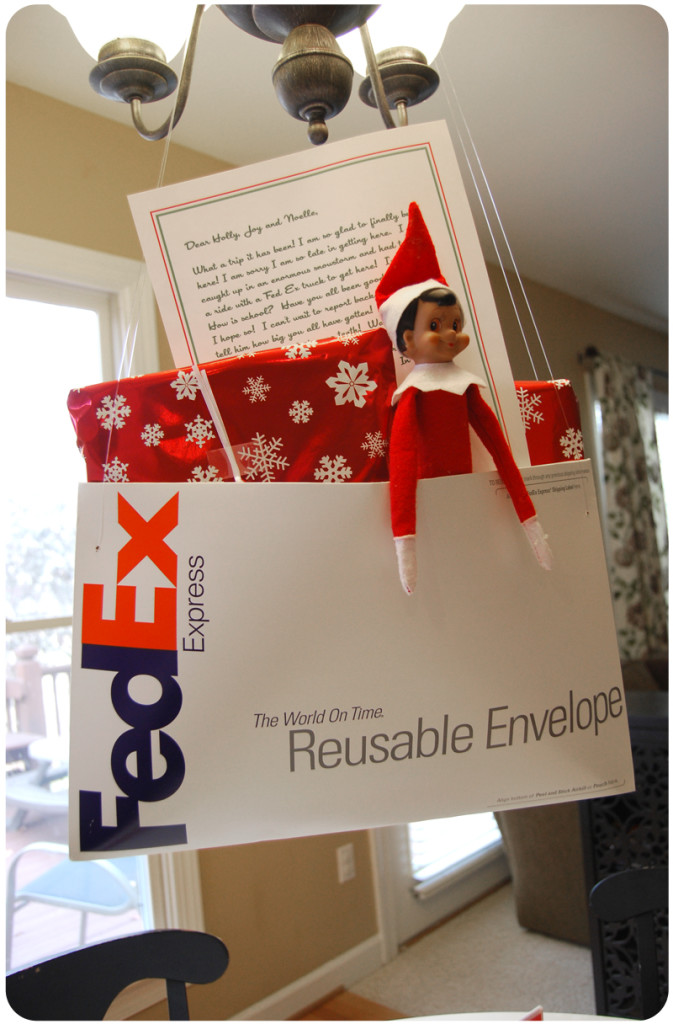 Special delivery | 25+ elf on the shelf ideas