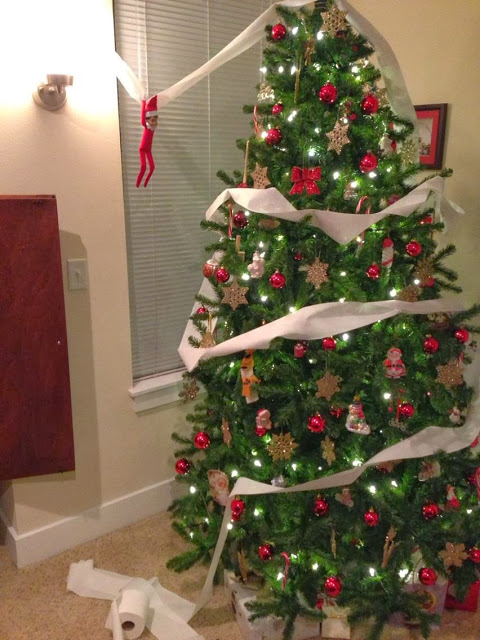TP the tree | 25+ elf on the shelf ideas
