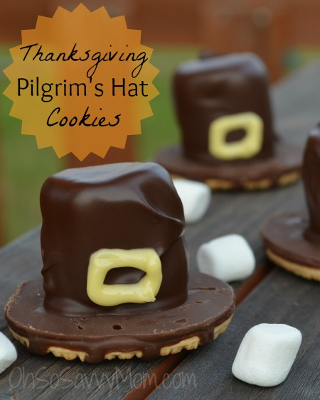 Thanksgiving Pilgrims Hat Cookies | 25+ Thanksgiving treats