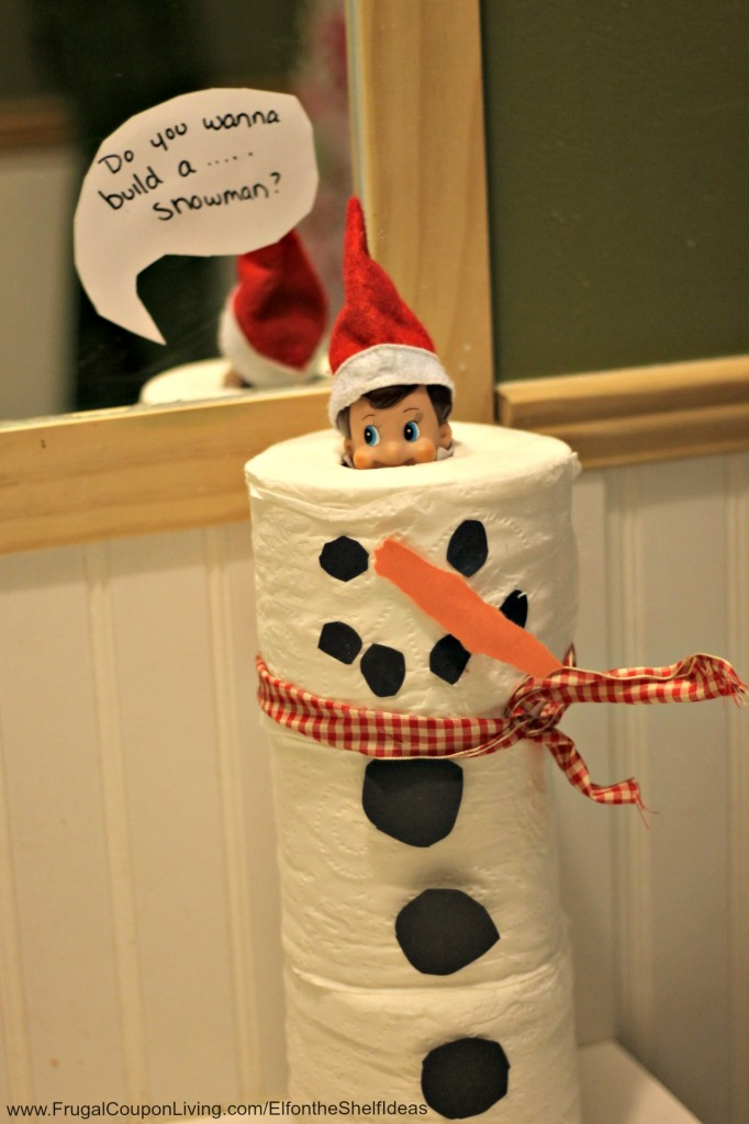 Toilet paper snowman elf | 25+ elf on the shelf ideas