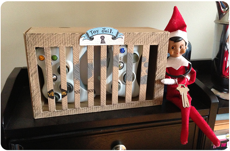 Toy jail | 25+ elf on the shelf ideas
