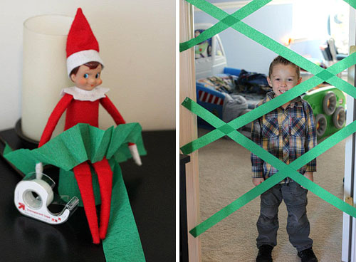 Trap the kids | 25+ elf on the shelf ideas