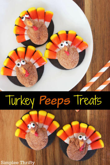 Turkey treat peeps | 25 + Thanksgiving treats
