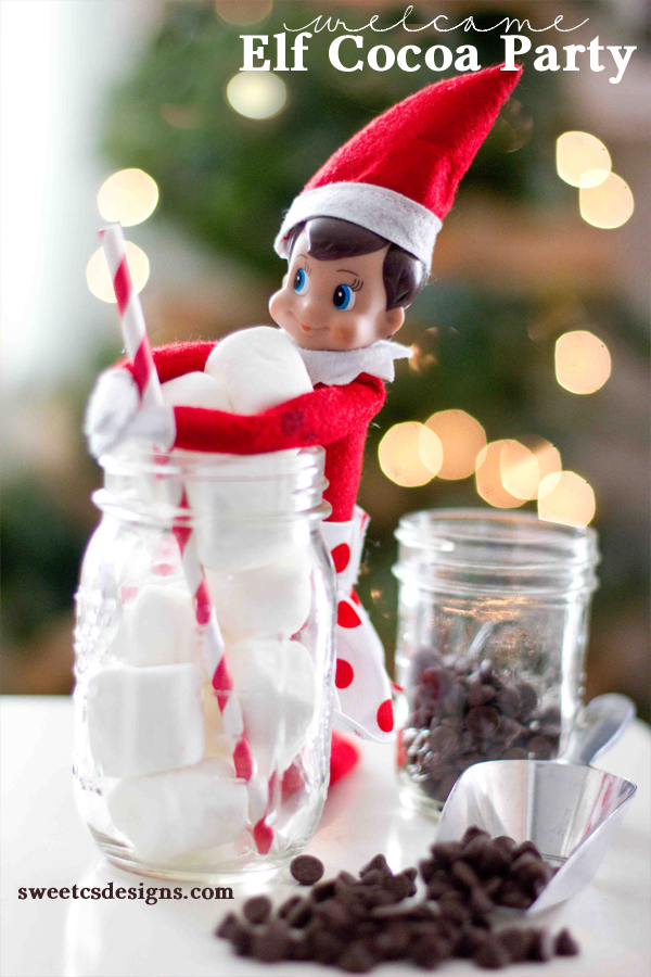 Welcome elf on a shelf cocoa party and printables | 25+ elf on the shelf ideas