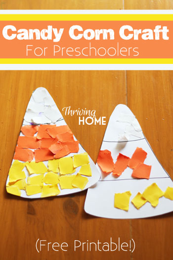 candy corn craft for preschoolers | 25+ Halloween crafts for kids
