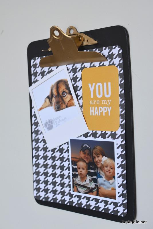 clipboard photo wall | NoBiggie.net