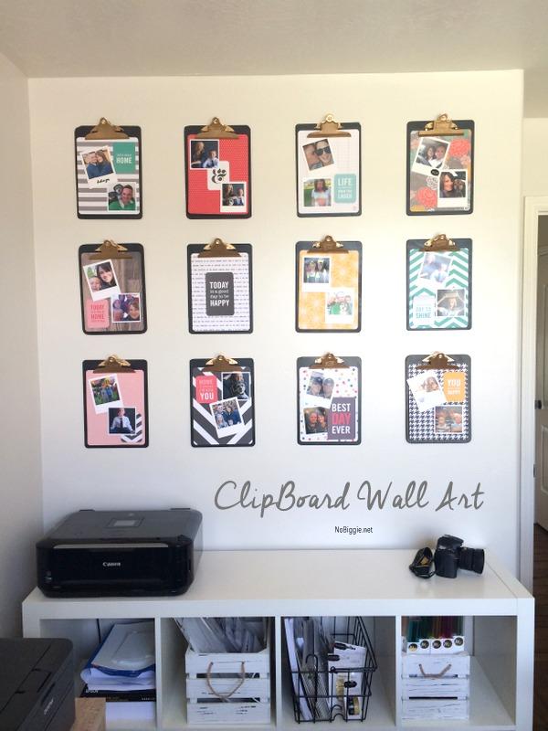 clipboard photo wall