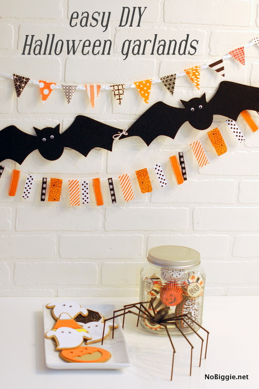 easy DIY Halloween garlands | 25+ Halloween party decor ideas