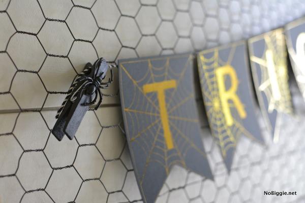 gold foiled Halloween Banner | NoBiggie.net