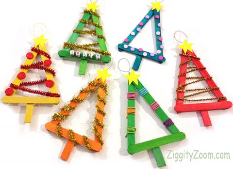 popsicle tree ornament 25 ornaments kids can make