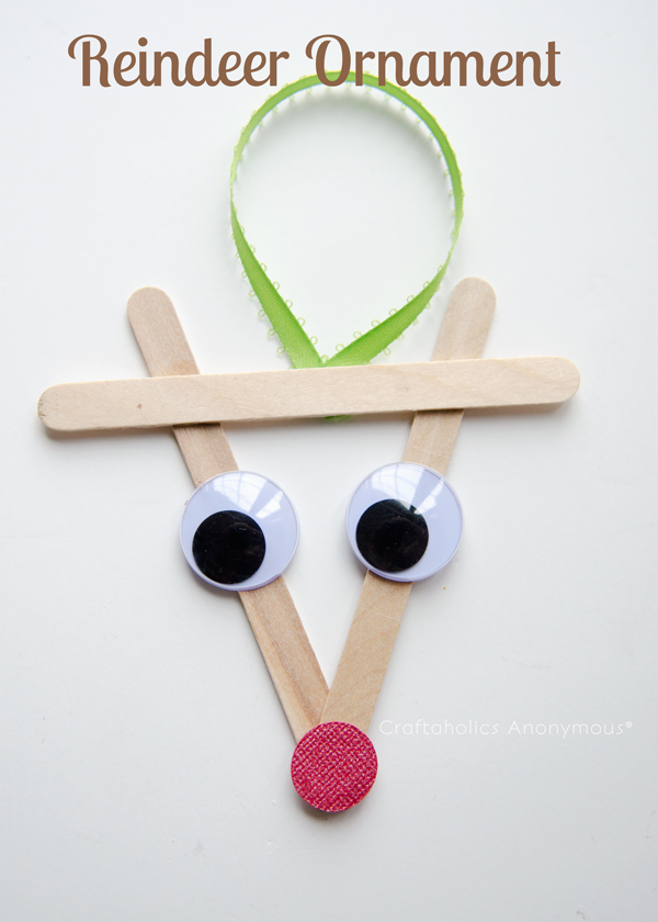reindeer ornament | 25+ ornaments kids can make