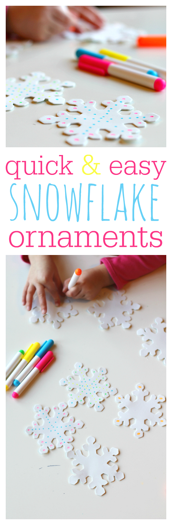 snowflake ornaments | 25+ ornaments kids can make