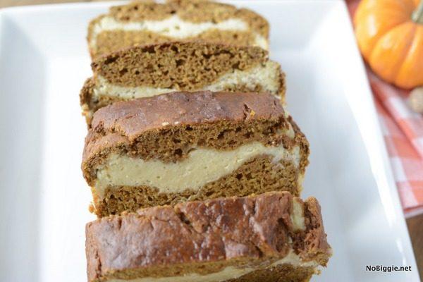 spiced cream cheese swirled pumpkin bread | NoBiggie.net