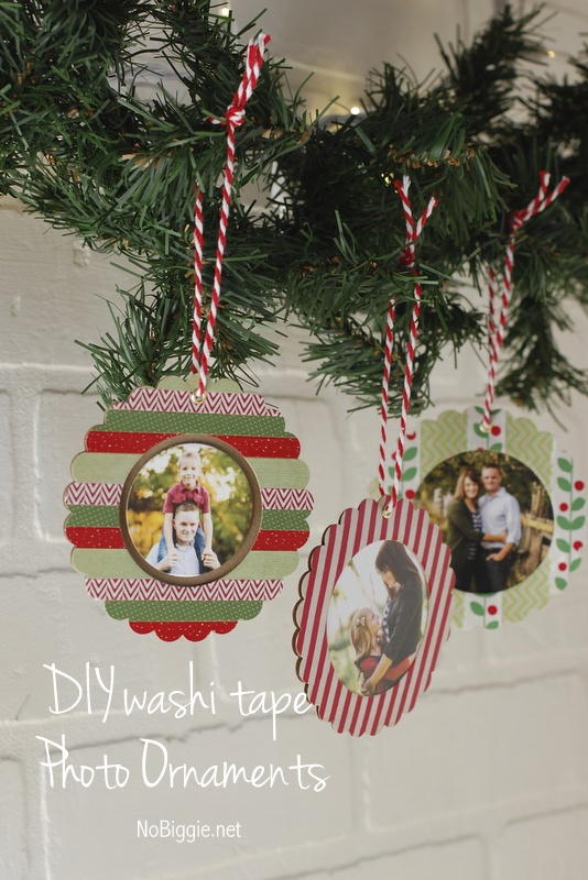 washi tape christmas picture ornaments 25 ornaments kids can make - Kids Christmas Ornaments