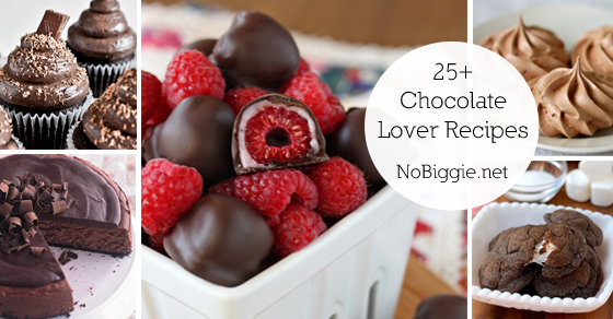 25+ Recipes for Chocolate Lovers | NoBiggie.net
