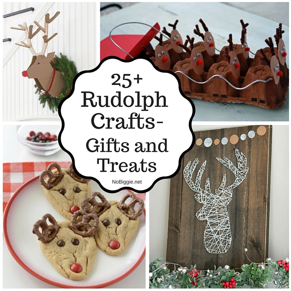 | 25+ Rudolph crafts, gifts and treats | NoBiggie.net