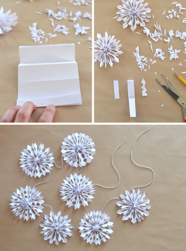 3D Snowflake garland | 25+ ornaments kids can make