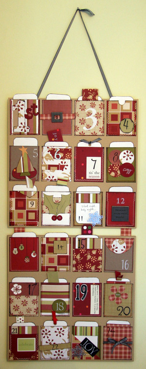 Advent Pocket Calendar | 25+ Christmas advent calendar ideas