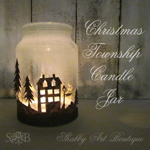 Christmas Township Candle Jar | 25+ easy DIY Christmas decor | NoBiggie.net