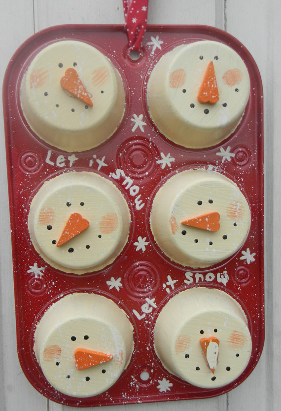 Christmas Snowman Muffin Tin Wallhanging 25 Snowman Crafts And Fun Food Ideas