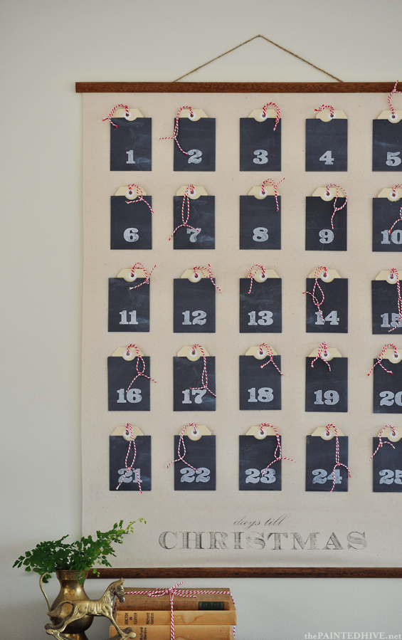 Christmas advent calendar wall chart | 25+ Christmas advent calendar ideas