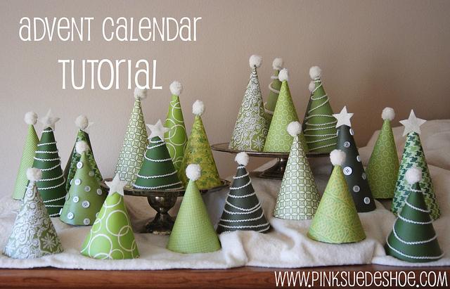 Christmas tree advent calendar | 25+ Christmas advent calendar ideas