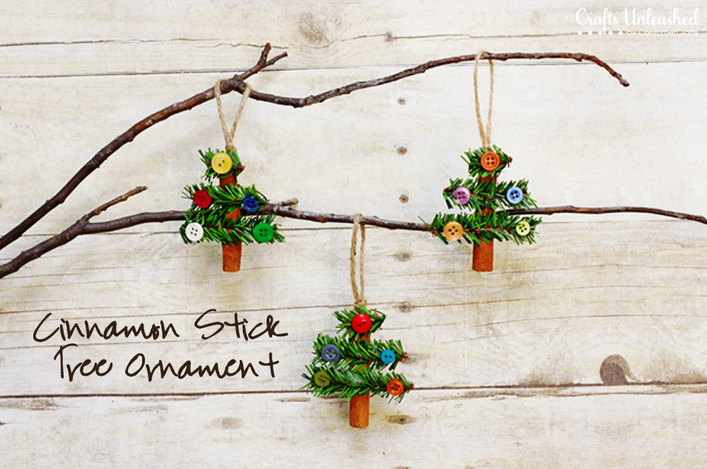 Cinnamon Stick Tree Ornaments | 25+ ornaments kids can make