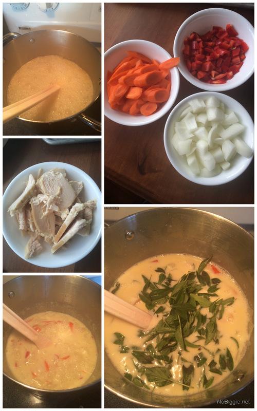 Creamy coconut curry with fresh Thai basil | NoBiggie.net