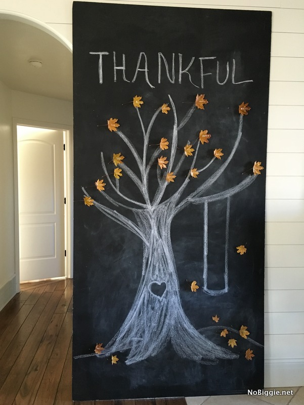 DIY BIG chalkboard thankful tree| NoBiggie.net