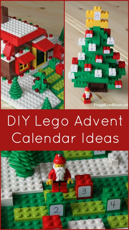 DIY Lego advent calendar | 25+ Christmas advent calendar ideas