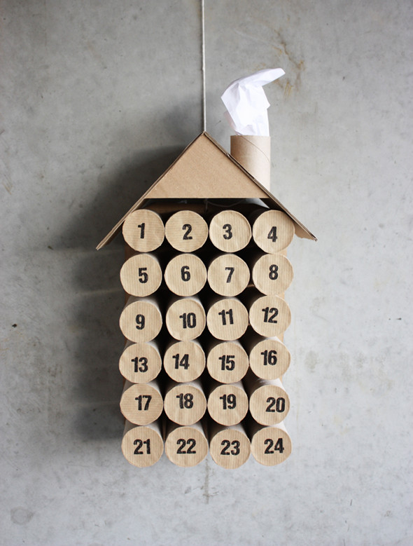 DIY Toilet paper roll calendar | 25+ Christmas advent calendar ideas