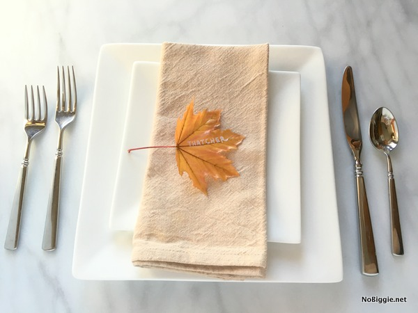 Easy Fall dinner place setting | NoBiggie.net