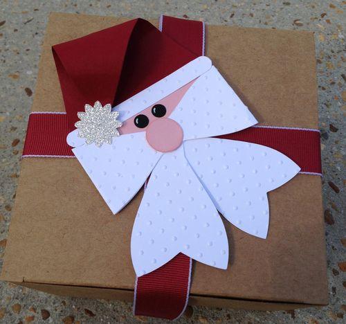 Santa Bow gift topper