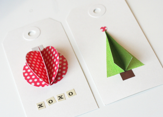 3D Christmas gift toppers | 30+ Christmas Wrapping Ideas
