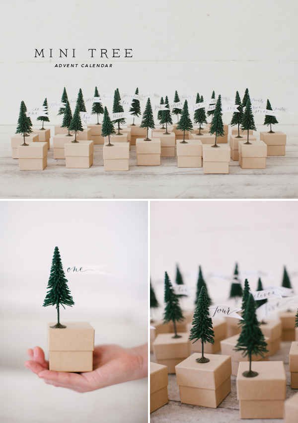 Mini Tree advent calendar | 25+ Christmas advent calendar ideas
