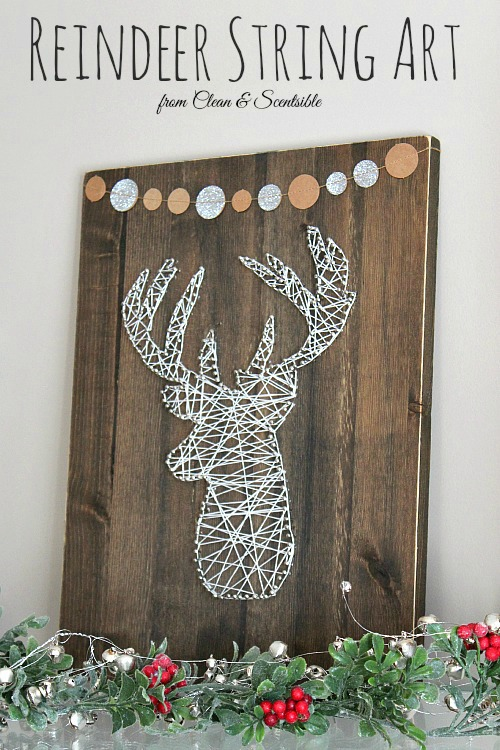 Reindeer String Art | 25+ Rudolph crafts, gifts and treats | NoBiggie.net