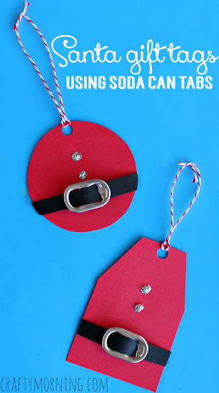 DIY Santa Belt gift tag | 30+ Christmas Wrapping Ideas