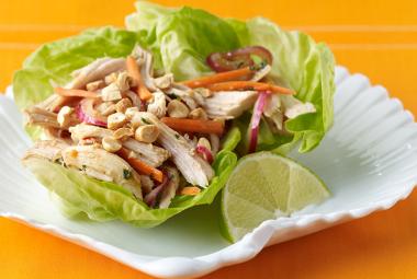 Thai-style turkey lettuce wraps | 25+ leftover turkey recipes