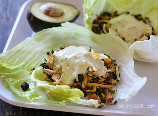 Turkey Santa Fe Lettuce Wraps | 25+ leftover turkey recipes