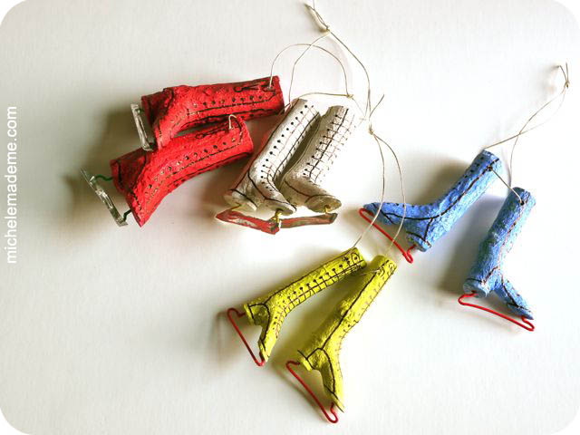 Twiggy Skate Ornaments | 25+ easy DIY Christmas decor | NoBiggie.net
