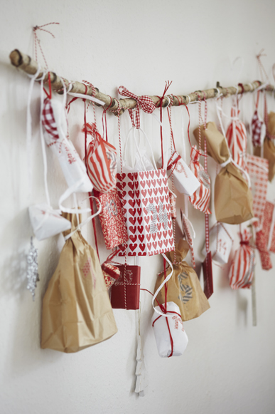 Upcycled advent calendar | 25+ Christmas advent calendar ideas