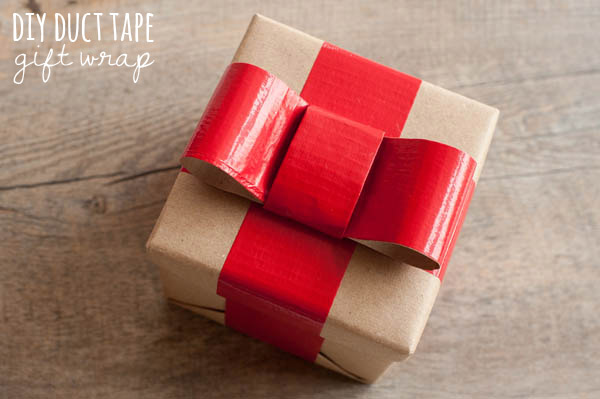 DIY Duck Tape Gift Wrap Bow | 30+ Christmas Wrapping Ideas