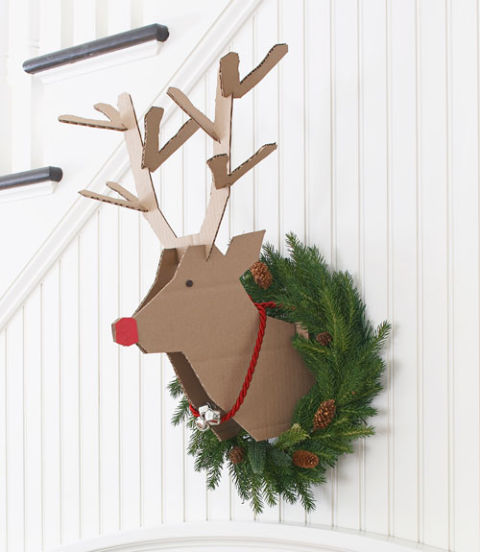 cardboard reindeer Christmas craft | 25+ Rudolph crafts, gifts and treats | NoBiggie.net