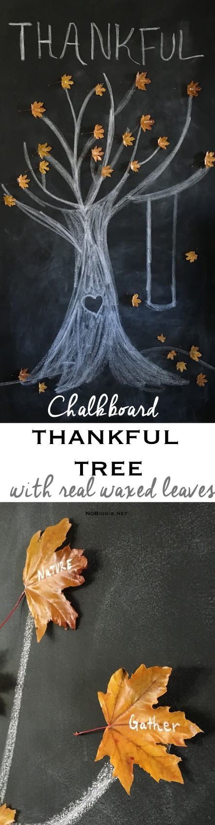 chalkboard thankful tree | NoBiggie.net - love this!