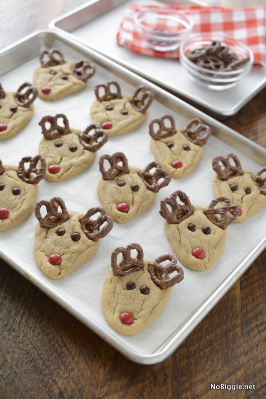 easy peanut butter rudolph cookies | NoBiggie.net