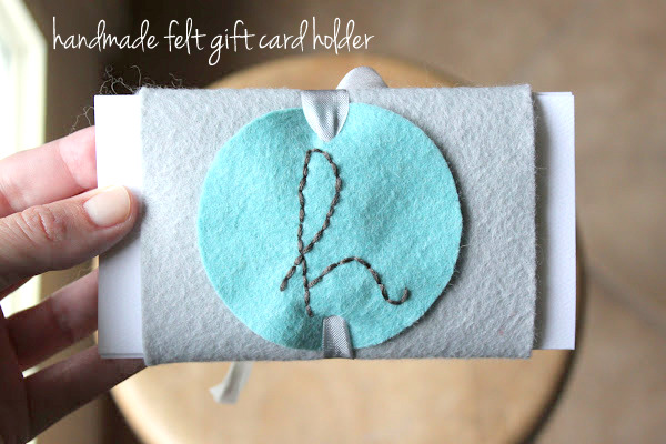 handmade felt gift card holder | NoBiggie.net
