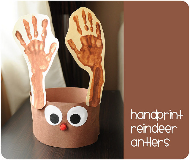handprint reindeer antlers | 25+ Rudolph crafts, gifts and treats | NoBiggie.net